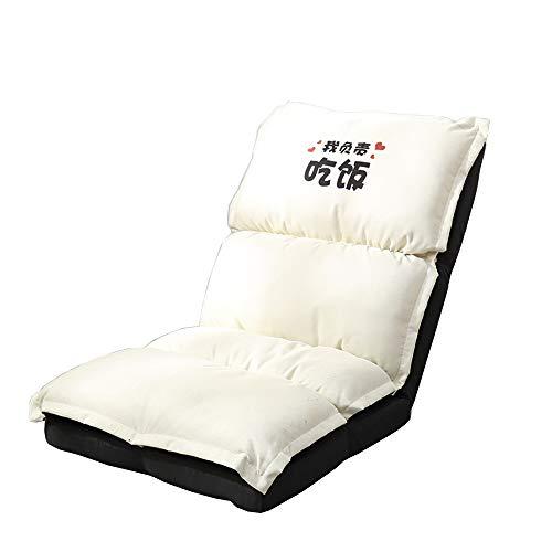 14 positions ajustables Chaise pliante de plancher paresseux Chaise de canapé Chaise longue 55 x 50 x 68CM (Couleur : Blanc)