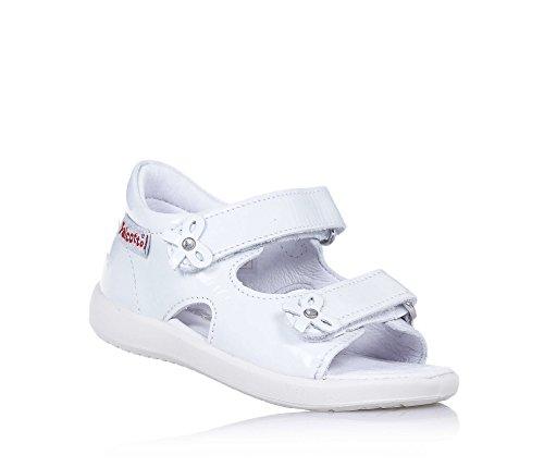 FALCOTTO - Sandalo bianco, in pelle lucida, ideale per il gattonamento e il primo passo, Bambina-22