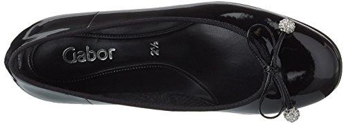 Gabor Shoes Fashion, Ballerine Donna Nero (schwarz 77)