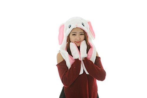 25 Arten Cartoon Plüsch Tier Hüte mit Schals Handschuhe Handschuhe Leistung Requisiten (white rabbits-11) (White Rabbit Hat)