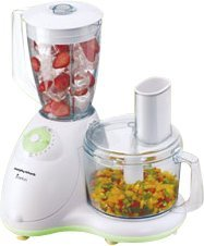 Morphy Richards Enrico 1000-Watt Food Processor (White)