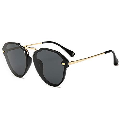 Honneury Mode rahmenlose polarisierte Sonnenbrille für Frauen, Farbverlauf, UV-Schutzbrille (Farbe : Black Frame/Black)
