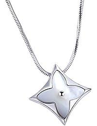 35fd912703fa Qiyami Kleeblatt Choker Zirkonia Necklace Women Anhänger Modeschmuck  Kettenlänge Geschenk 925 Swarovski Silber Kette…