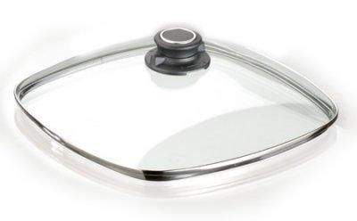 Back forno sicuro sicurezza coperchio in vetro 28 x 28 cm con anello in acciaio inox su tutte le forme di standard