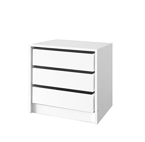 Muebles Cajonera 3 Cajones Blanca 50cm Alto x 50 cm Ancho x...
