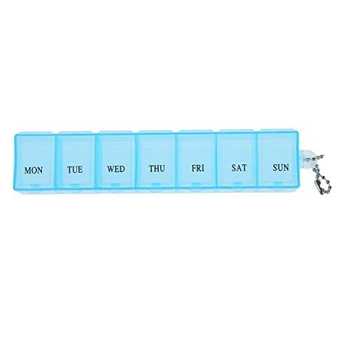 SODIAL (R)7 Tage Eine Wochen-Box Organizer Faecher Medizin Vitamin Lagerung Reisen Kit 1 Stueck -