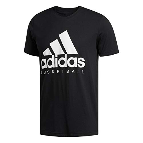 9b1fe96d adidas Men's Basketball Graphic T-Shirt, Black/White, 3X-Large