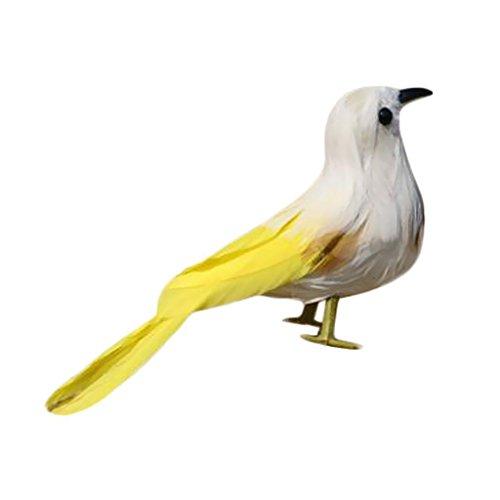 ELECTROPRIME Fake Artificial Sparrow Feathered Bird Garden Home Decor Taxidermy Bird #3