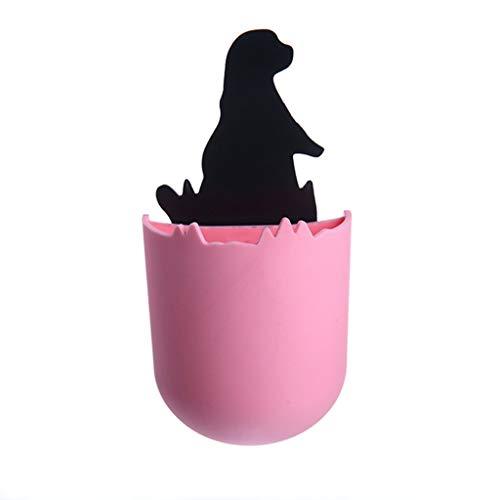 he Bad Regal Nahtlose Paste Bad Regal ohne Bohren, Selbstklebende Ablagekorb Bad kleine Seelöwen Kleber abnehmbare Aufbewahrungsbox niedlichen Tier Box (Pink) ()