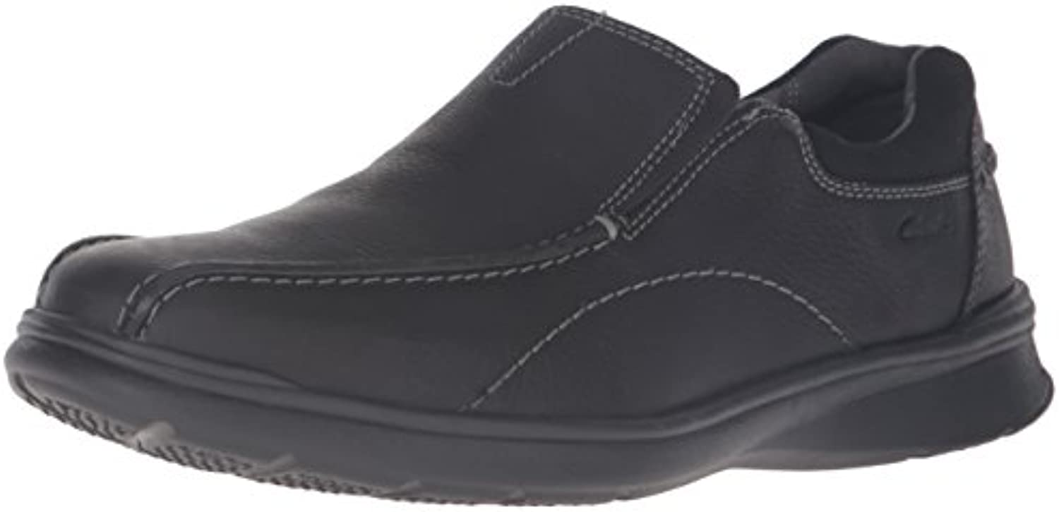 Clarks Men's Cotrell Step Slip On Loafers Black Oily 13 W