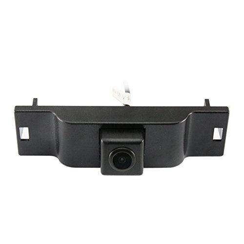 Dynavsal Fahrzeugspezifisches Auto Frontansicht Logo Eingebettete Kamera nach vorne Ansichtssystem mit CCD Wasserdicht IP67 Wide Degree (Mitte), Schwarz für Subaru Forester Subaru-emblem Vorne