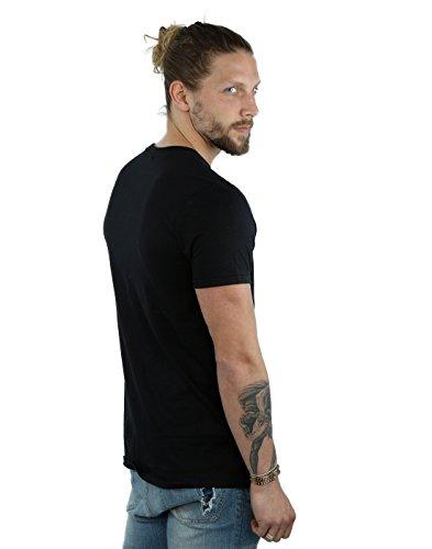 Marvel Herren Guardians of the Galaxy Rocket Powered T-Shirt Schwarz