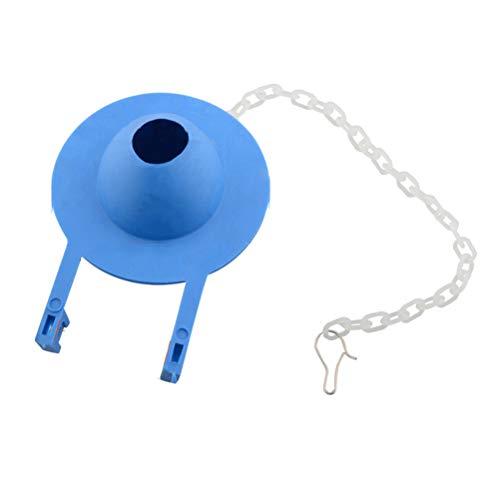 OUNONA Abflussstopfen des Tanks aus Gummi mit Metallkette (Blau)