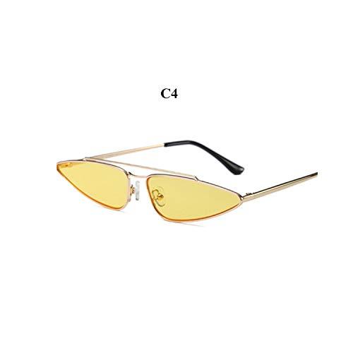 Sportbrillen, Angeln Golfbrille,Vintage Small Cat Eye Glasses Women Unique Style Retro Sunglasses Metal Fashion Catwalk Sun Glasses Anti-UV Goggles C4