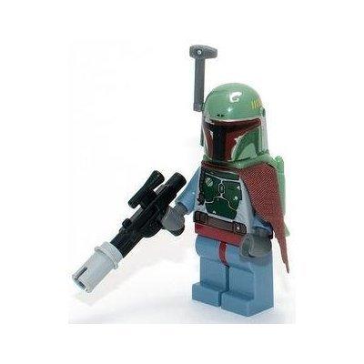 Neue Fett (Lego Star Wars - Minifigur Boba Fett (neues Design) mit Umhang & Blaster Rifle)