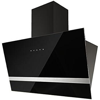respekta design schr ghaube dunstabzugshaube kopffrei glas 90 cm schwarz eekl a touch control. Black Bedroom Furniture Sets. Home Design Ideas