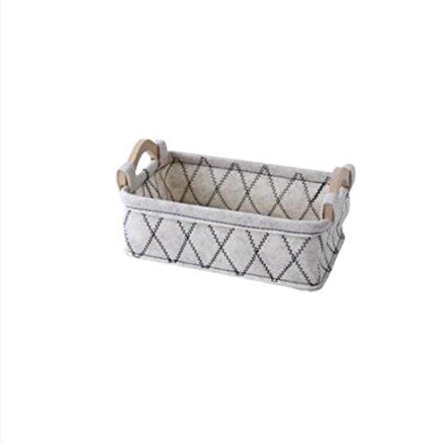 XIAOMEIXI Felt Fabric Storage Basket Multifunktionale Store Box für Home Kosmetik Snacks Unterwäsche Socken 26 * 17 * 9.5cm (Storage Record Rack)