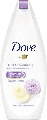 Dove Pflegedusche Pure Verwöhnung Cremige Pflege und Pfingstrosenduft, 6er Pack (6 x 250 ml)