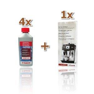 Reinigungs / Pflege - Set von Saeco für Kaffeevollautomaten, Kaffeeautomaten(M, 4 Flasche Saeco )