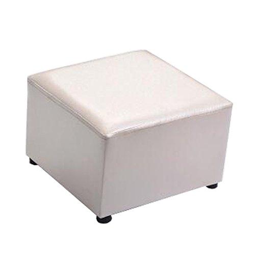 Blancho Moderner Quadratischer Kunstleder-Moderner Kleiner Schemel-Tabellen-Schemel Sofa Pier Ottoman Stool, Beige