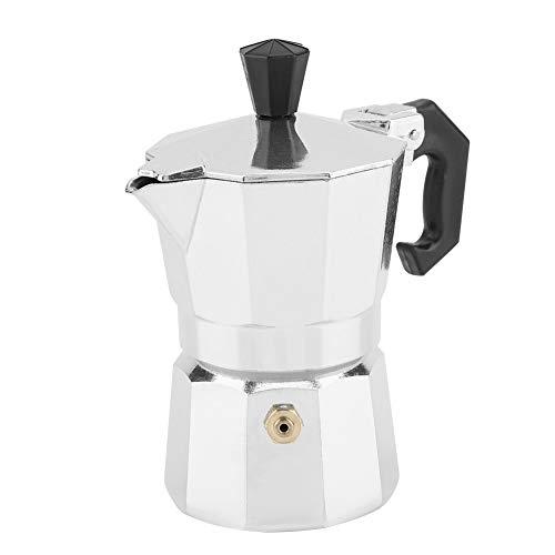50ml Cafetera italiana Moka, 1 taza de aluminio Tipo italiano Cafetera con café espresso Moka Estufa Cocina casera para hacer café