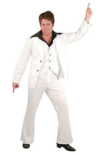 Men Large (42-44 Jacket Size) Disco Fever Retro Costume Suit (Shirt/Shoes/Necklace Not - Samstag Nacht Kostüm