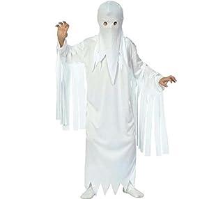 Fyasa 706023-T02 Ghost - Disfraz de Fantasma para Vestido de 7 a 9 años,, tamaño Mediano