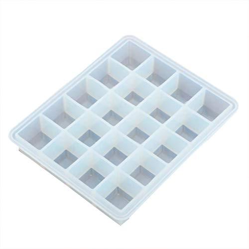 Provide The Best Eiswürfelform aus Silikon, 20 Mulden, Wiederverwendbar, stapelbar, leicht zu lösen, lebensmittelecht, weiß, 15 * 12 * 2.8cm -