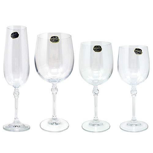 Glaswaren 24 Teile Kristallglas Modell Florence [AB9460]