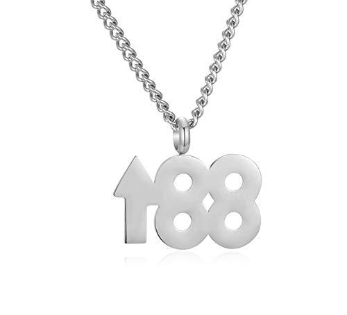 XIAOSO New Rock Anhänger Halsketten Für Männer Frauen Edelstahl Nummer 88 Up Gold Kette Lange Halskette Hip Hop Glück Schmuck Geschenke