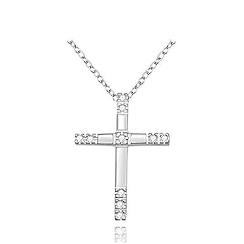 amdxd Jewelry Anhänger vergoldet Ketten für Frauen Silber Kreuz