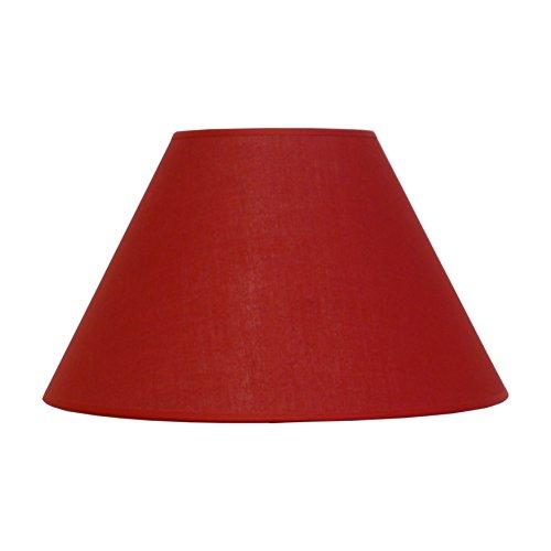 Abat-jour du Moulin - Abat-jour Cône Texture E27 Rouge