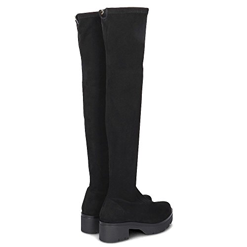 Gioseppo Suede High Boots Black