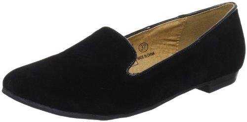 Buffalo Girl 324887 YFY505 SUEDE 144392, Damen Slipper, Schwarz (BLACK 01), EU 38 (Girl Buffalo)