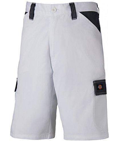 Dickies Everyday 24/7 Shorts, Two Tone, 240g/m², verschiedene Farben, optimale Passform, Arbeitsshorts passend zu SH2007 Shirts (60, Weiß/Grau) (Passend Grau)