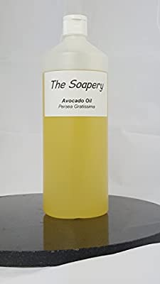 Avocado Oil - 1 Litre Refined Cosmetic Grade for Massage, Aromatherapy, Soap and Natural Skin Care by The Soapery