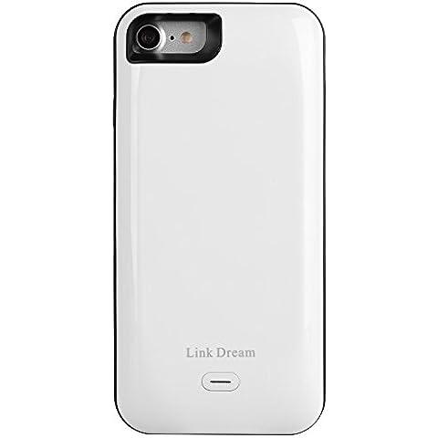 iroundy iPhone 7Custodia Ricaricabile 5200mAh caricatore batteria esterna ultra sottile custodia batteria Power Bank portatile, banca di alimentazione di backup per iPhone 7