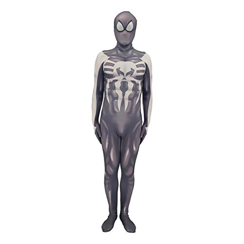 werty Cosplay Kleidung Punisher Spiderman Cosplay Kostüm Kompletter Satz Kleidung Anime Kostüm Spiderman Halloween Cosplay Adult-XXL (Punisher Cosplay Kostüm)