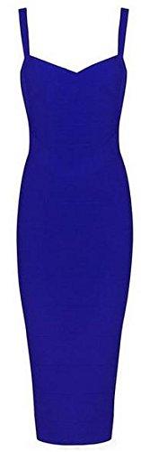 Sexy Designer Kleider (Whoinshop Damen Ärmellos Bodycon Kleider Figurbetontes Festlich PartyKleider (M, Blau-2))