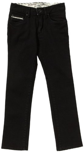 Vans Jungen Jeans V76 Skinny, Schwarz (Overdye Black), W26/L27 (Black Jeans Denim Skinny)