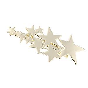 Baoblaze Haarspange Star Barrettes Pins Haarschmuck Kopfbedeckungen Accessoires