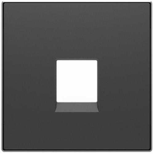Niessen 8517 NS - Tapa Toma para teléfono, 6 contactos, Color Negro