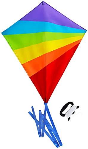 Sun Kites Cometa de Diamantes para niños y Adultos - Colores Brillantes del Arco Iris - Ideal para Principiantes - Muy fácil de Volar