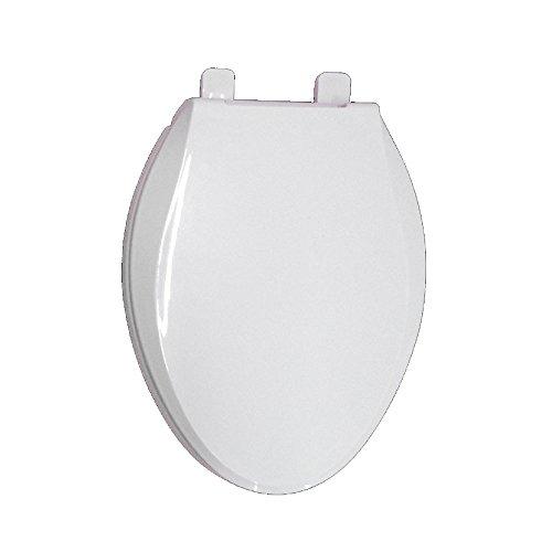 LDFN Universal Toilettensitz Vertieft Stumm V-Form Toilettendeckel Antibakteriell Vintage-Bezug,B-47-48.5*36CM