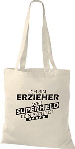 Tote Bag Shirtstown Sono Un Educatore Perché Il Supereroe Non È Una Professione