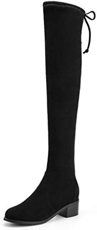 YUBIN Au-Dessus du du Au-Dessus Genou Bottes pour Femmes (Couleur : Noir, Taille : EU 35/US 4/UK 3/JP 22.5cm)B07JR6F3G8Parent 147a97