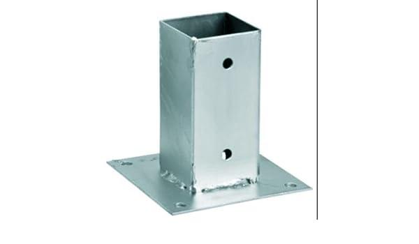 Portapilastro per pali quadrati con piastra di base zincato x