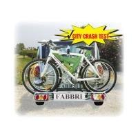Fabbri Bici Exclusiv Deluxe 3 6201945  Portabici per gancio traino, fino a 3 biciclette o 2 bici elettrich
