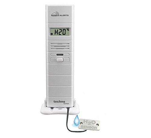 Technoline MA 10350 Wasserdetektor, Push-Mitteilung auf Ihr Smartphone alarmiert, weiß, 5,5 x 3 x 5,5 cm Wasser-mobile