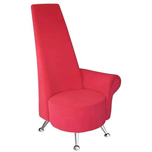 Febland Small Red Potenza Chair with Right Arm, Fabric, 70x65x130 cm